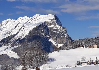 Fernblick-Schoppernau-kanisfluh-Winter